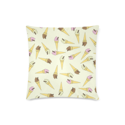 "Neapolitan Ice Cream Custom Zippered Pillow Case 16""x16""(Twin Sides)"
