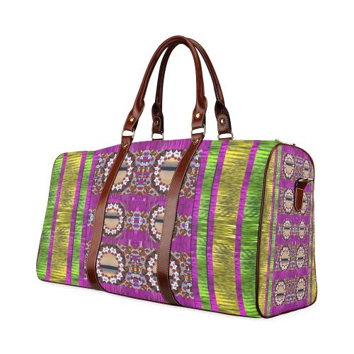 Rainbow love for the nature and sunset Waterproof Travel Bag/Large (Model 1639)