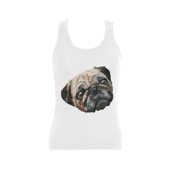 pug love Women's Shoulder-Free Tank Top (Model T35)