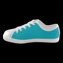 Scuba Blue Canvas Kid's Shoes (Model 016)