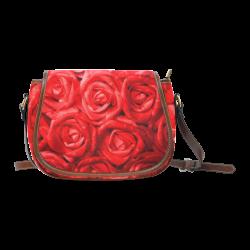 gorgeous roses L Saddle Bag/Large (Model 1649)