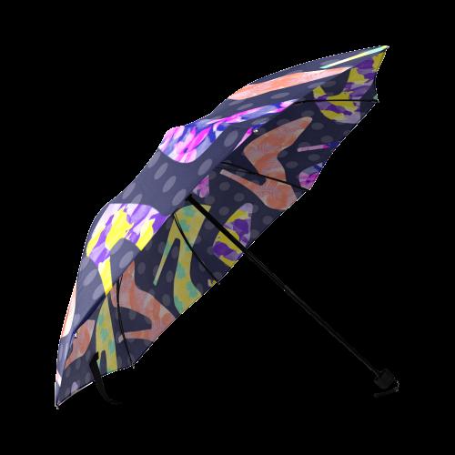 Colorful High Heels Pattern Foldable Umbrella (Model U01)