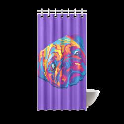 """pop art pug Shower Curtain 36""""x72"""""""