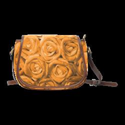 gorgeous roses M Saddle Bag/Large (Model 1649)