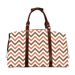 Autumn Joy Chevron - Brown Classic Travel Bag (Model 1643)