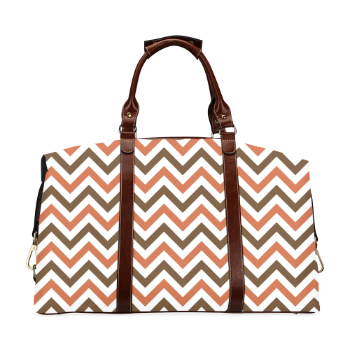 Autumn Joy Chevron - Brown Classic Travel Bag (Model 1643)