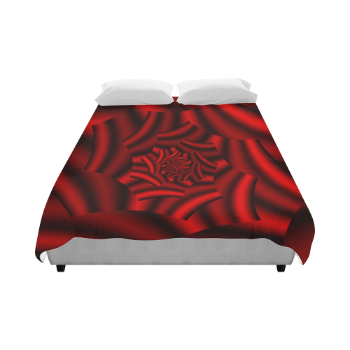 "Gleaming Surface Metallic Red Rose Spiral Duvet Cover 86""x70"" ( All-over-print)"