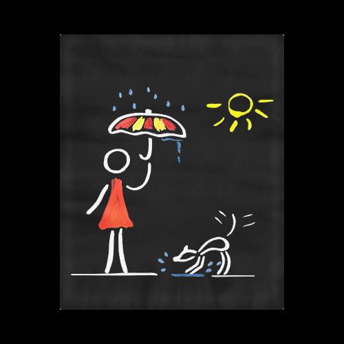 "Happy Dog Sommerrain Umbrella Duvet Cover 86""x70"" ( All-over-print)"