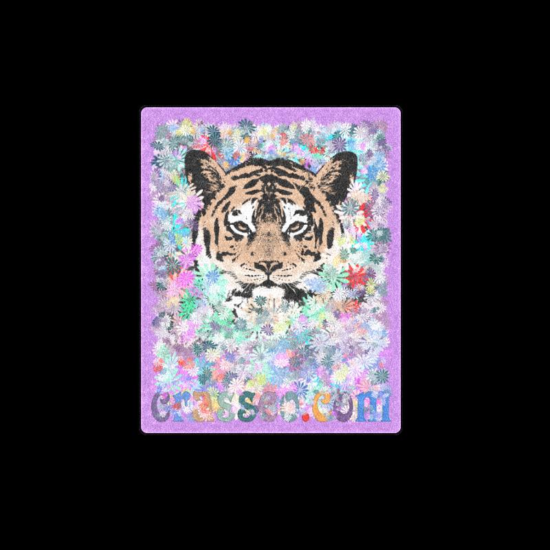 "FLOWER TIGER III Blanket 40""x50"""