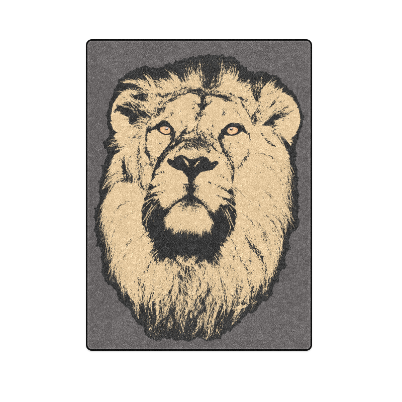 "LION II Blanket 58""x80"""