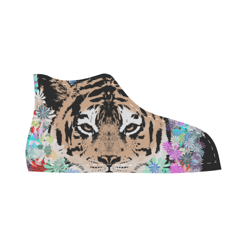 FLOWER TIGER II High Top Canvas Kid's Shoes (Model 002)