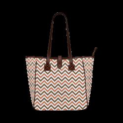 Autumn Joy Chevron - Brown Classic Tote Bag (Model 1644)