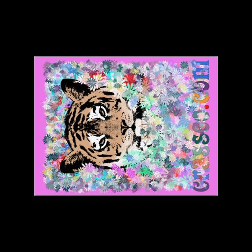 "FLOWER TIGER II Poster 18""x24"""