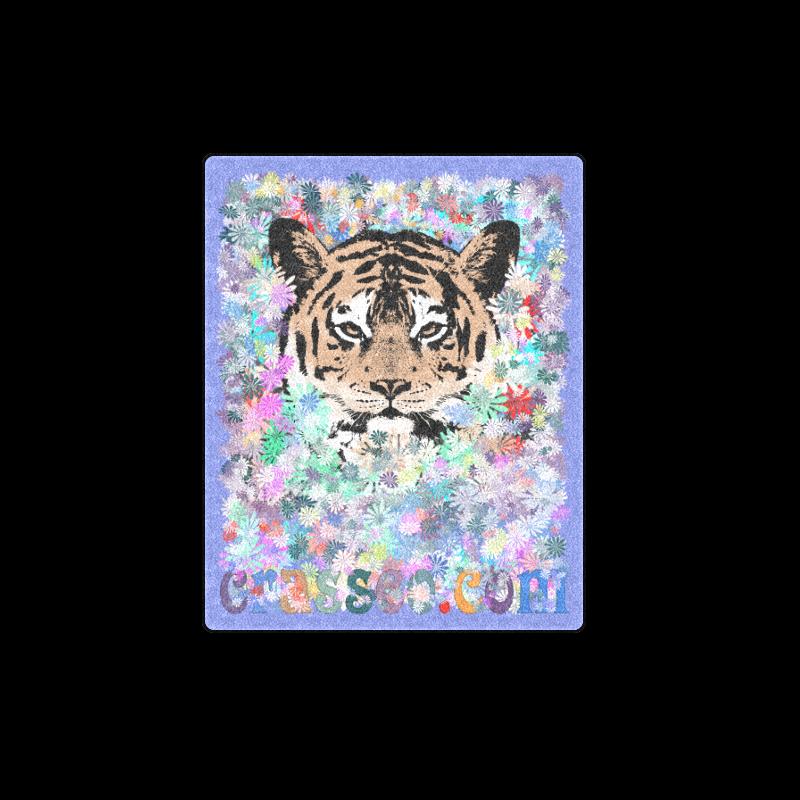 "FLOWER TIGER II Blanket 40""x50"""