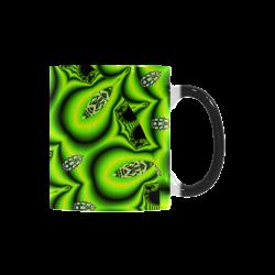 Spring Lime Green Garden Mandala, Abstract Spirals Custom Morphing Mug
