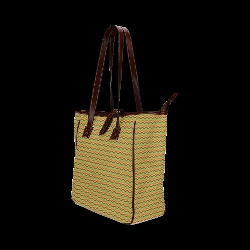 Autumn Joy - Chevron Classic Tote Bag (Model 1644)