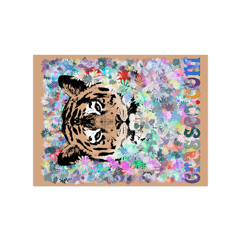 "FLOWER TIGER III Poster 18""x24"""