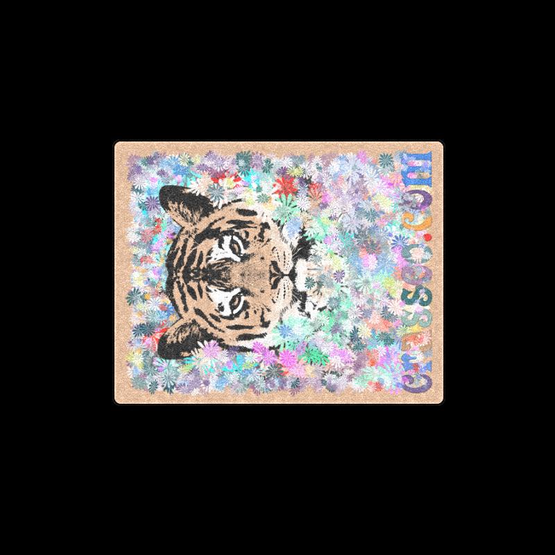 """FLOWER TIGER V Blanket 40""""x50"""""""