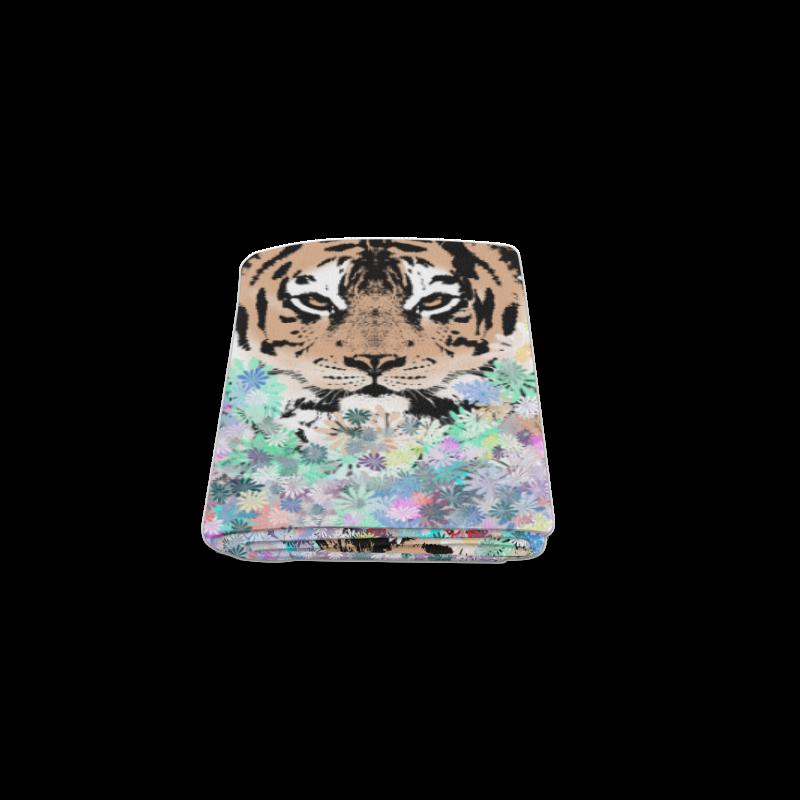 """FLOWER TIGER IV Blanket 40""""x50"""""""