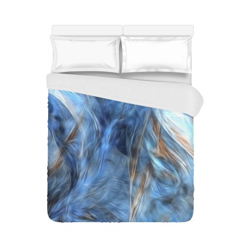 """Blue Colorful Abstract Design Duvet Cover 86""""x70"""" ( All-over-print)"""
