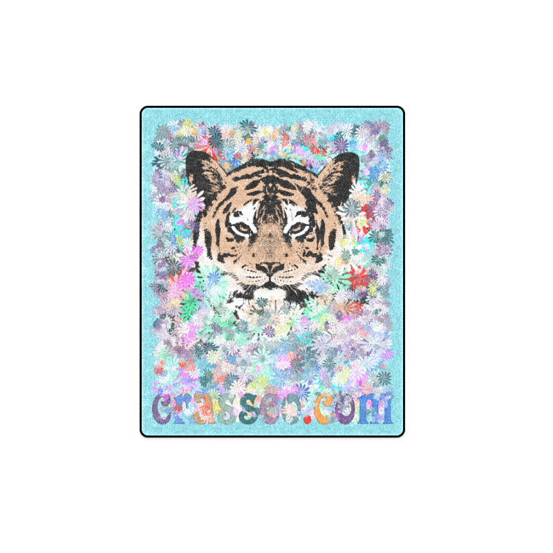 "FLOWER TIGER Blanket 40""x50"""
