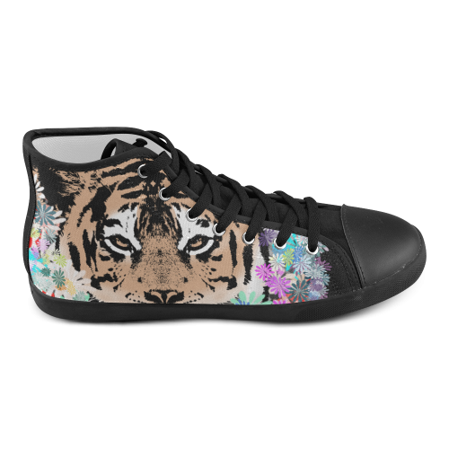 FLOWER TIGER III High Top Canvas Kid's Shoes (Model 002)
