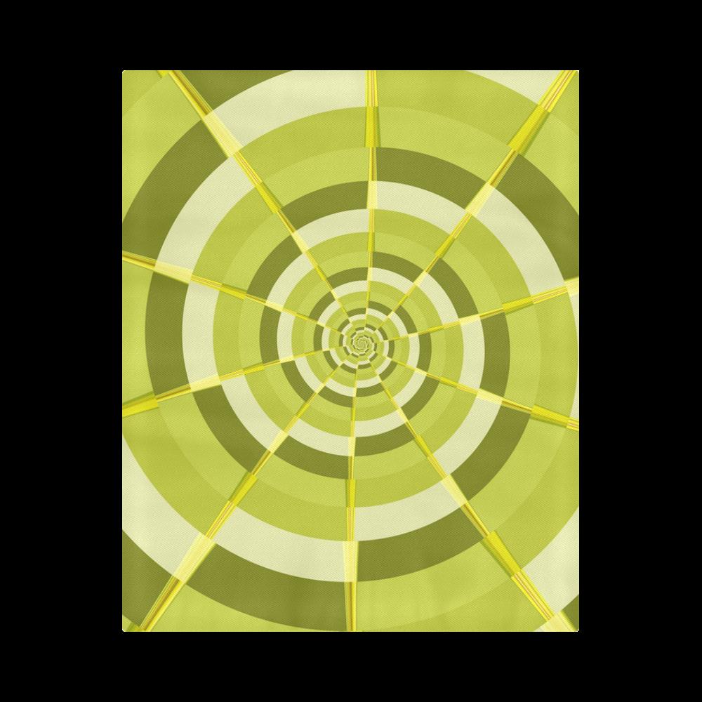 """Crazy Dart Green Gold Spiral Duvet Cover 86""""x70"""" ( All-over-print)"""