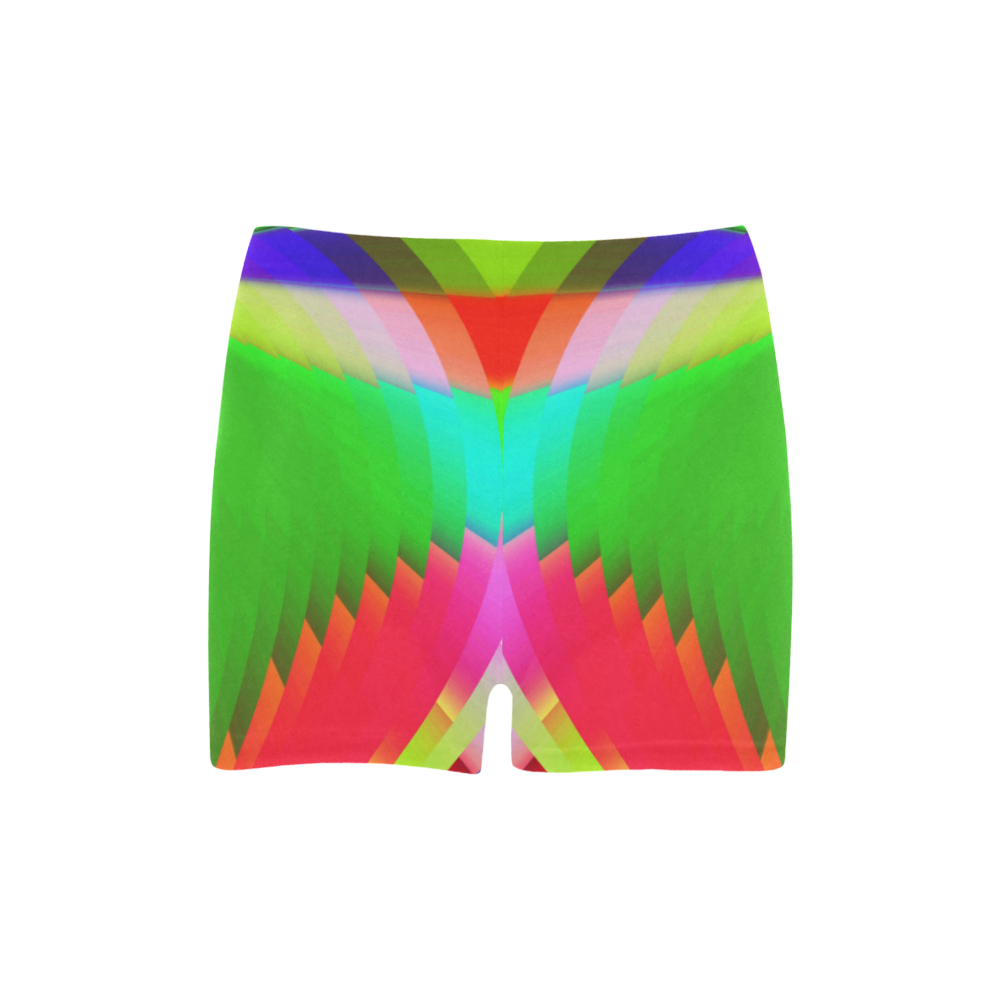 Colorful Abstract Butterfly with Flower Briseis Skinny Shorts (Model L04)