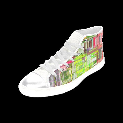TechTile #6W - Jera Nour Women's Classic High Top Canvas Shoes (Model 017)