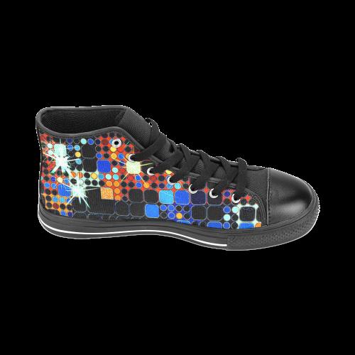 TechTile #7 - Jera Nour Men's Classic High Top Canvas Shoes /Large Size (Model 017)
