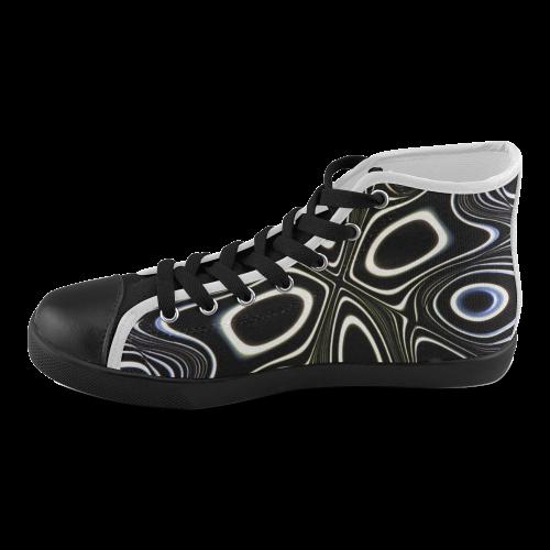 Blast-o-Blob #1 - Jera Nour Men's High Top Canvas Shoes (Model 002)