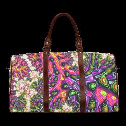 more colors in life fractal 24C Waterproof Travel Bag/Small (Model 1639)