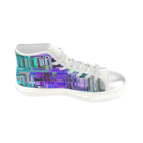TechTile #6W - Jera Nour Women's Classic High Top Canvas Shoes (Model 017)