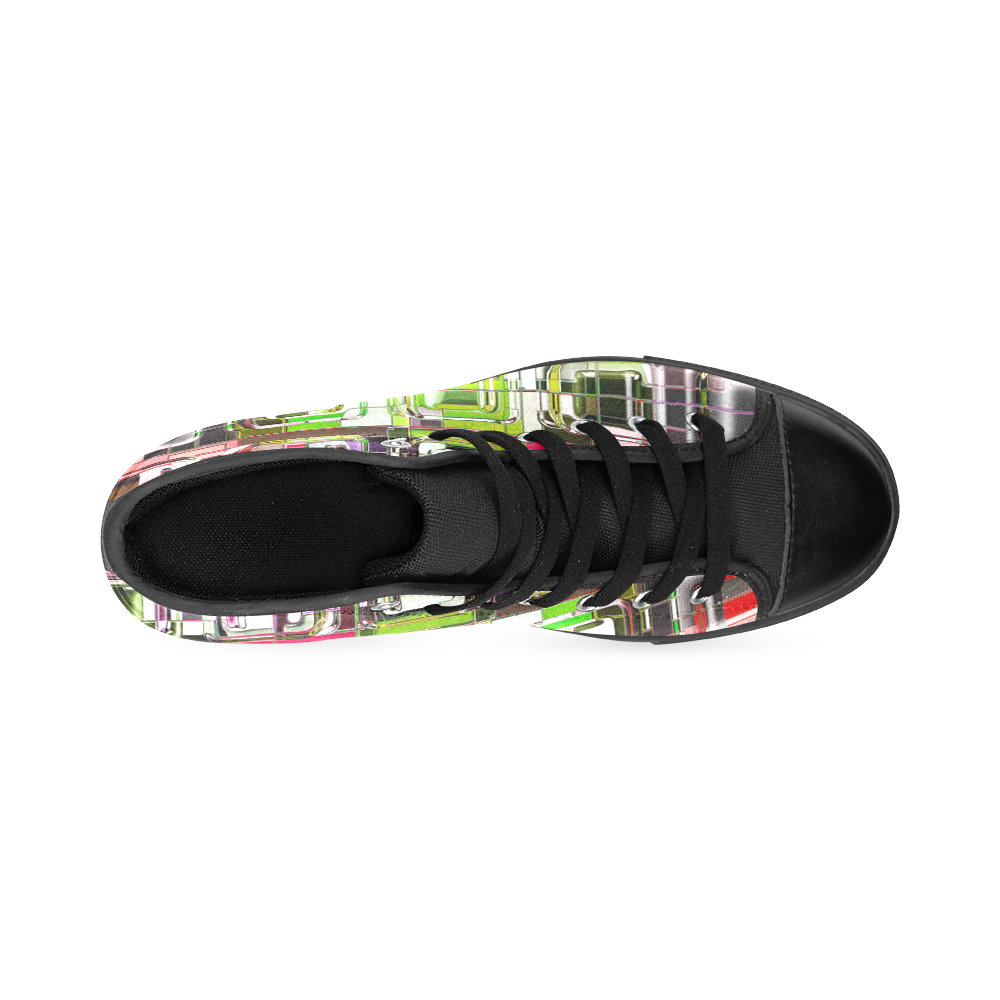 TechTile #6M - Jera Nour Men's Classic High Top Canvas Shoes /Large Size (Model 017)