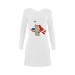 The statue of liberty Demeter Long Sleeve Nightdress (Model D03)