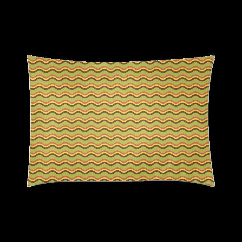 "Autumn Joy - Chevron Custom Zippered Pillow Case 20""x30""(Twin Sides)"