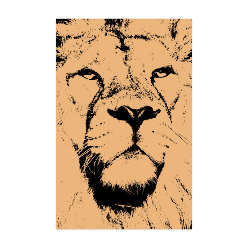 """LION POSTER VII Poster 22""""x34"""""""
