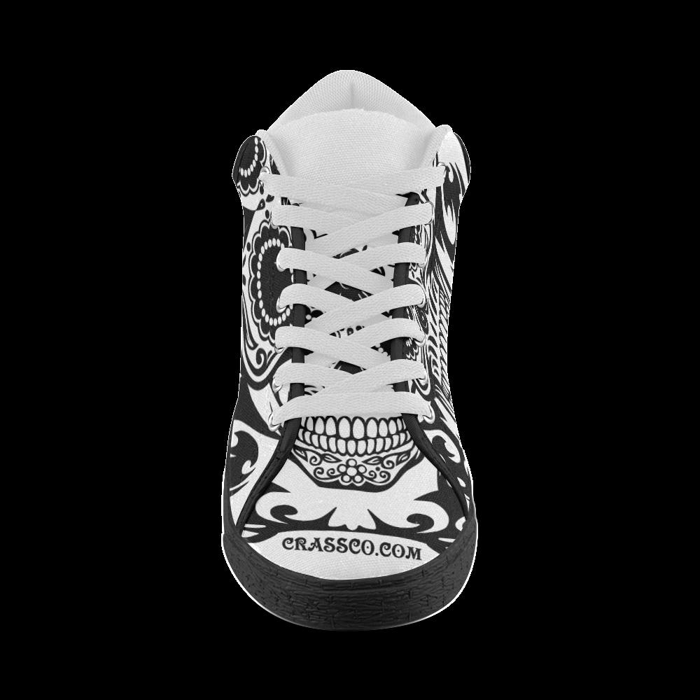 SKULL POWER Women's Chukka Canvas Shoes (Model 003)