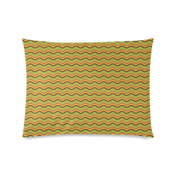 "Autumn Joy - Chevron Custom Zippered Pillow Case 20""x26""(Twin Sides)"
