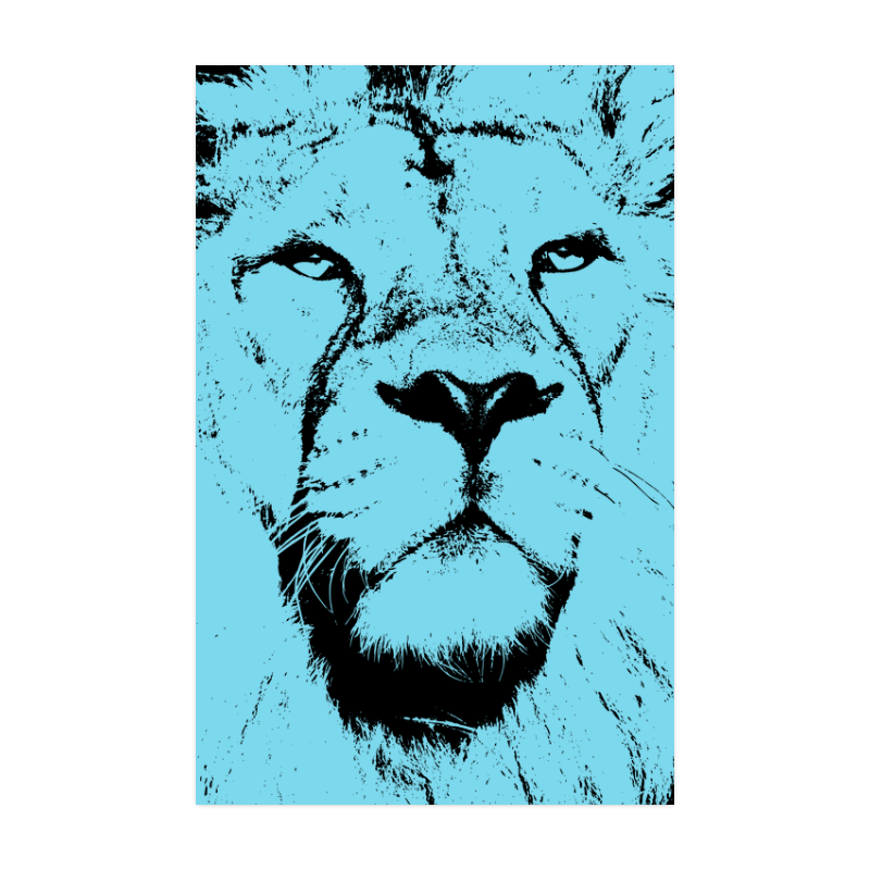 """LION POSTER III Poster 22""""x34"""""""