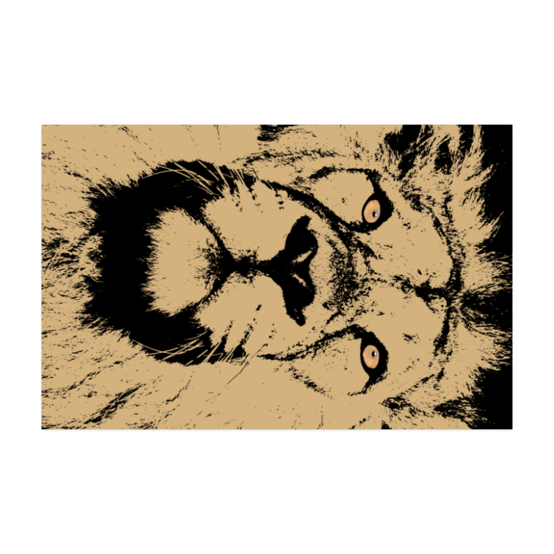"""LION POSTER Poster 22""""x34"""""""