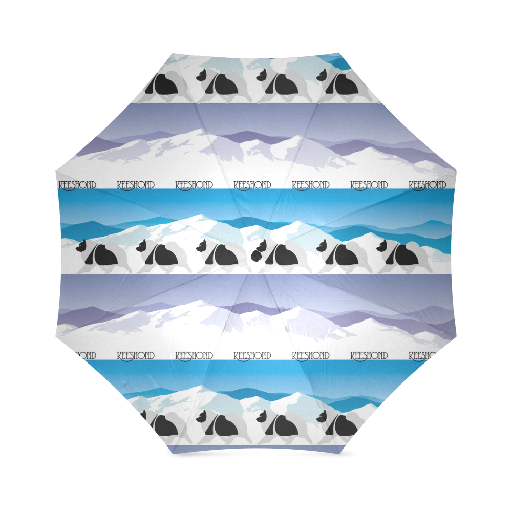 Keeshond Rockin the Rockies Foldable Umbrella (Model U01)