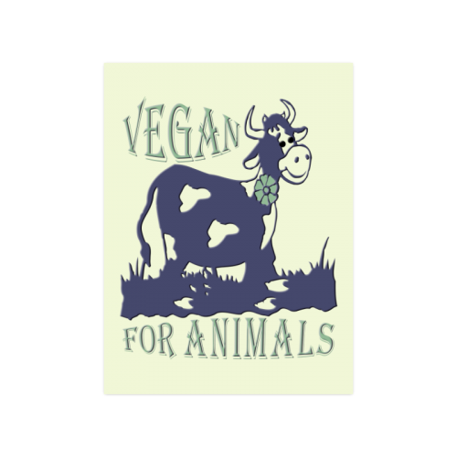 "vegan for animals II Poster 18""x24"""