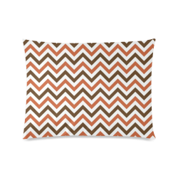 "Autumn Joy Chevron - Brown Custom Zippered Pillow Case 20""x26""(Twin Sides)"