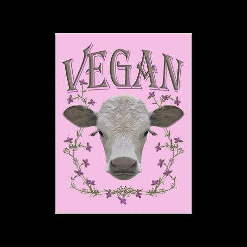 "vegan calf poster IV Poster 18""x24"""