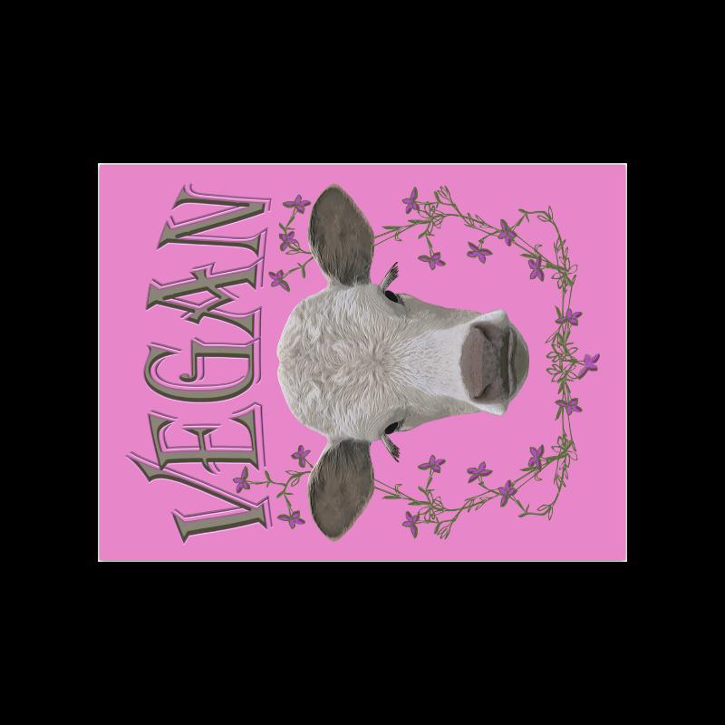 "vegan calf poster III Poster 18""x24"""