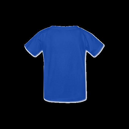Santa flying over tropical christmas island Kid's  Classic T-shirt (Model T22)