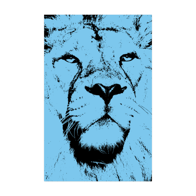 """LION POSTER VIII Poster 22""""x34"""""""