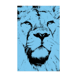 "LION POSTER VIII Poster 22""x34"""