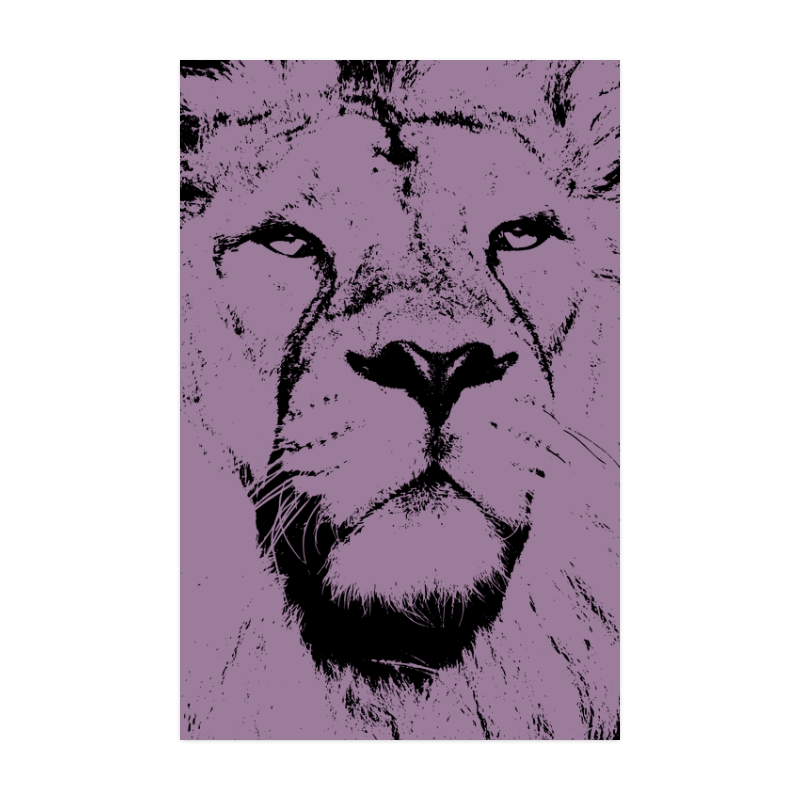 """LION POSTER X Poster 22""""x34"""""""
